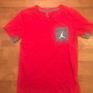 Boys medium red Jordan tee